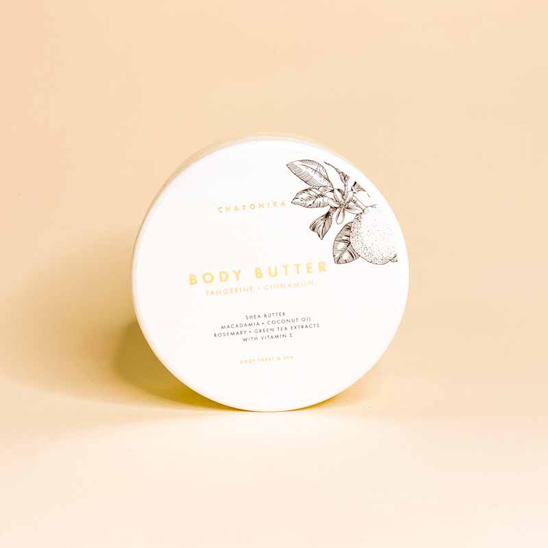 КРЕМ-МАСЛО ДЛЯ ТЕЛА МАНДАРИН И КОРИЦА BODY BUTTER CHARONIKA